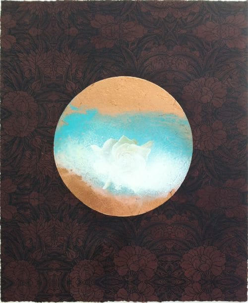 Paintings by FitzgeraldArt seen at Handwright Gallery & Framing, New Canaan - Comet, Flower in the Clouds