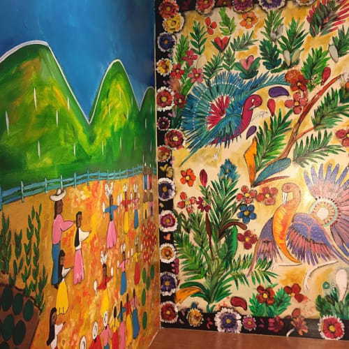 Murals by Gina Leon seen at Private Residence, Vancouver - Mexican Mural