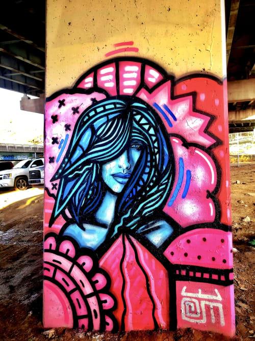 Street Murals by Alloyius Mcilwaine Art seen at FDR Skatepark, Philadelphia - FDR Skatepark Mural (Muse)
