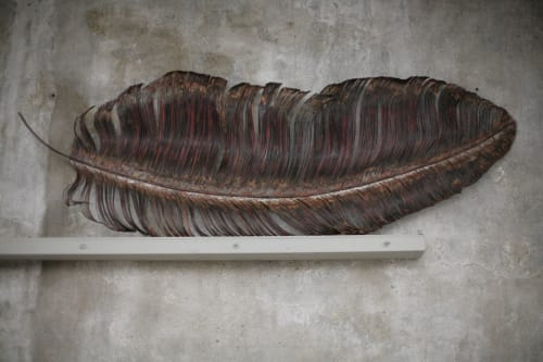 Sculptures by Yasemen Hussein seen at Private Residence, London - Big Feather