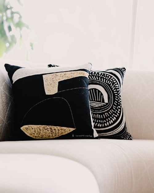 """Pillows by K'era Morgan seen at Private Residence, Los Angeles - """"Flint"""" Throw Pillow"""