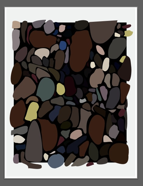 Wall Treatments by Richard Gene Barbera seen at Burton New York City Store, New York - EDITION PRINT BROWN PEBBLES