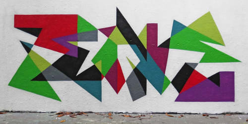 Murals by MATT W. MOORE seen at Paris, Paris - MWM Letterforms.