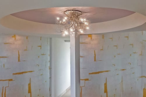"""Chandeliers by Fragiskos Bitros seen at Private Residence, Rethimno - """"Roots Medium"""""""