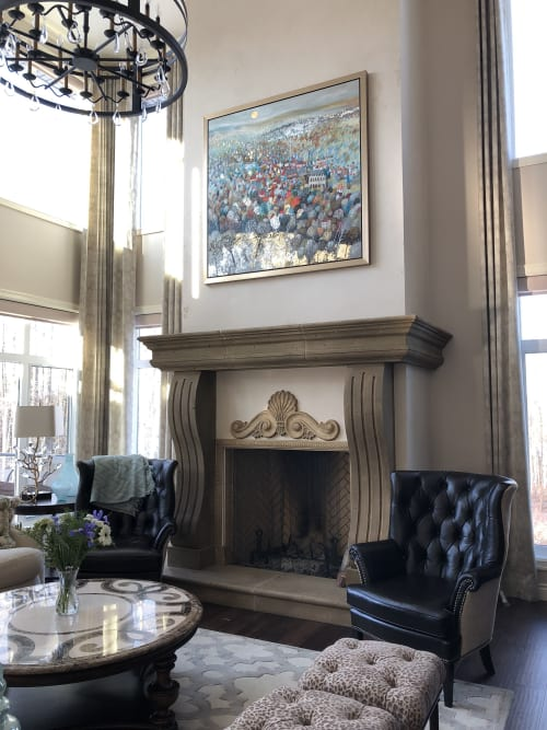 Paintings by BLYTHE SCOTT seen at Private Residence, Edmonton - 'New Horizons'