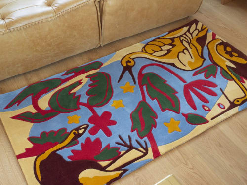 Rugs by Tuft Love Studio seen at Private Residence, Suzhou - Crane, Heron And Goose