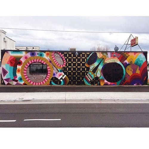 Street Murals by Jaime Molina seen at Rebel Restaurant, Denver - Mural