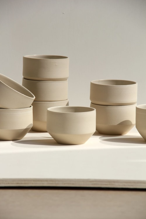 Cups by Evi Radoes seen at Private Residence, Wilderen - Lotus cup