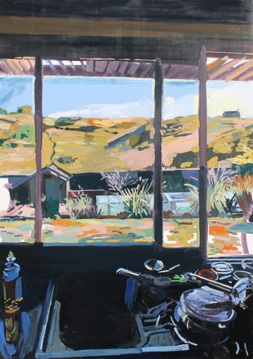 Paintings by Emma Copley seen at Private Residence, Cambridge - Kitchen Sink