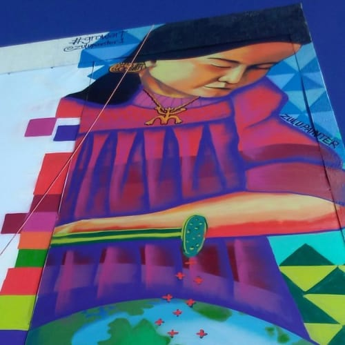 Street Murals by Zulu Painter seen at Private Residence, Miami - Public Mural