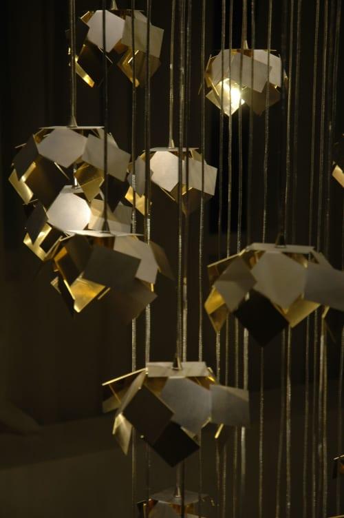 Lighting Design by Ombre Portée seen at The Langham, London, London - LEM Chandelier