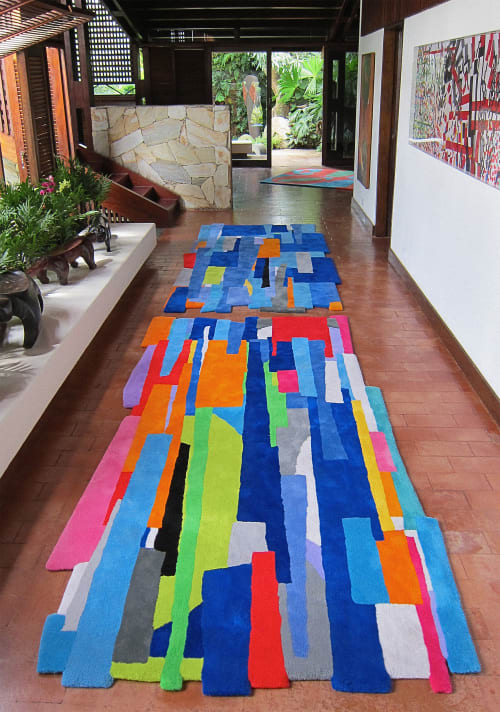 Rugs by Patricia Van Dalen seen at Caracas, Venezuela, Caracas - Fragmented Gardens