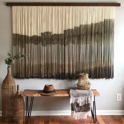 "Macrame Wall Hanging by Vita Boheme Studio seen at Private Residence, West Palm Beach - ""Savanna"""