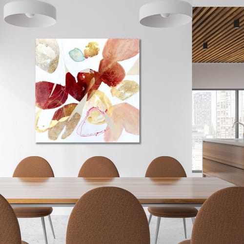 Paintings by TS ModernArt Studio seen at Private Residence, Los Angeles - A Conversation in Red