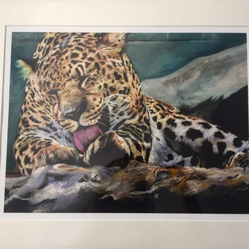 Paintings by Francesca Possati seen at Private Residence, Long Beach - Leopard