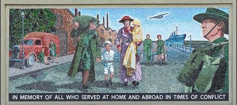 Public Mosaics by Helen Bodycomb seen at Fawkner Memorial Park, Fawkner - Tile Mosaic