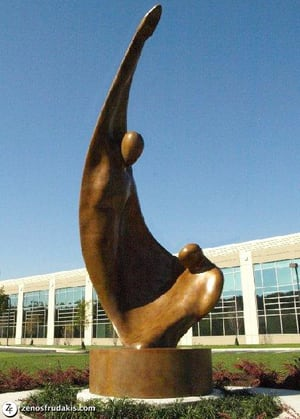 Sculptures by Zenos Frudakis at GMAC Corporate Center, Fort Washington - Paradigm Shift