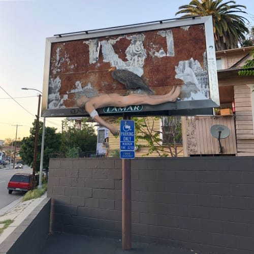 Murals by No Touching Ground seen at Echo Park, Los Angeles - maybe tomorrow, but not today