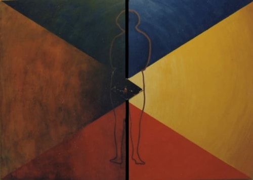 Paintings by Tibor Hargitai Art seen at Vasarely Museum, Budapest, Budapest - DEATH AND BIRTH 1995