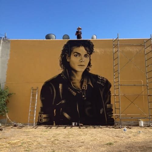 Street Murals by Levi Ponce seen at 4900 Lankershim Blvd, Los Angeles - Michael