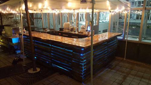 Furniture by Marc DiGiaimo Design seen at Uptown Beer Garden, Philadelphia - Wood Bar Top