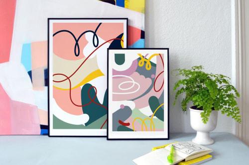 Framed art print set in black plastic frames | Art & Wall Decor by Jilli Darling