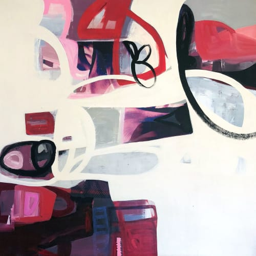 Paintings by Irene Nelson seen at GearBox Gallery, Oakland - Passion and Restraint