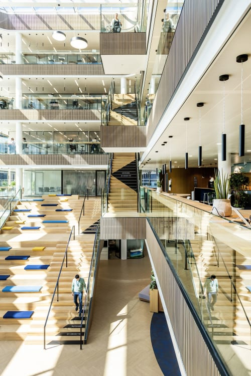Interior Design by Studio Michiel Wijnen seen at Danone Place Amsterdam, Hoofddorp - Danone Place Amsterdam International HQ