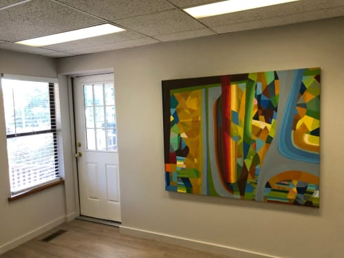Art Curation by Brantner DeAtley seen at Elkins, Auer, Rudof & Schiff, Northampton - Law Office art Consultant