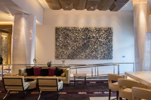 Sculptures by Ron Dier Design seen at Graton Resort & Casino, Rohnert Park - Undulating Wall Sculpture