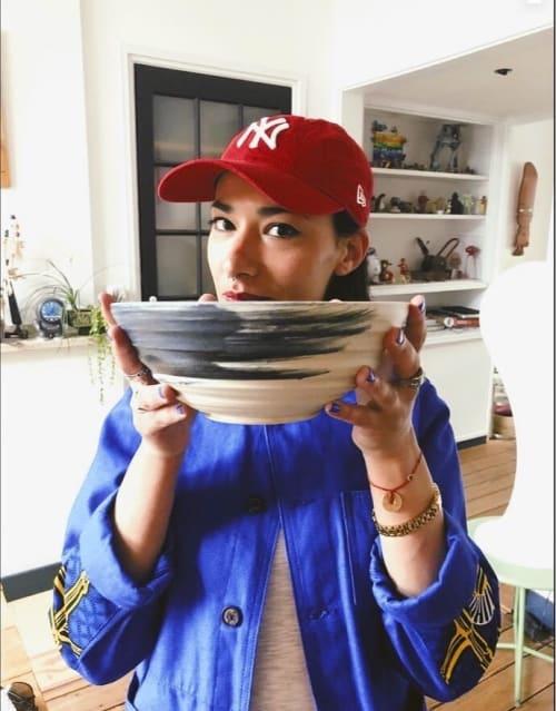 Tableware by Gerda Huijssen seen at Private Residence, Breda - Custom Made Ramen Bowl