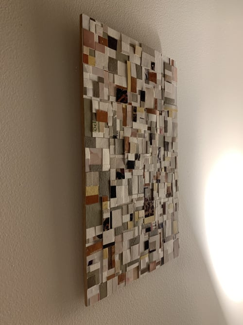 Paintings by Myrrhine Fabricius seen at Private Residence, Devonport - Collage in Tassie