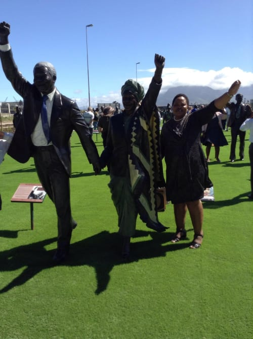 Public Sculptures by Xhanti Mpakama sculptures seen at The Long March to Freedom, Pretoria - Nelson Madela