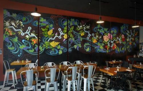 Murals by Gabrielle Abbott seen at Esters Enoteca, Seattle - Wine Esters Mural