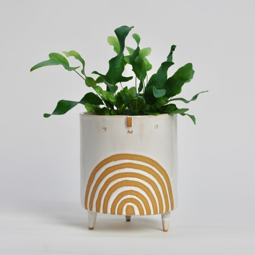 Vases & Vessels by Atelier Stella Ceramics seen at Private Residence - Large rainbow planter