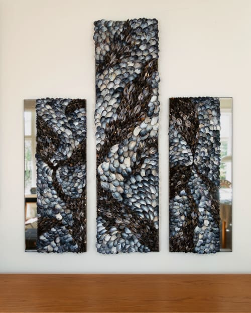 Art & Wall Decor by Shellman Scandinavia seen at Private Residence, Helsingborg - Blue Flow 1-3