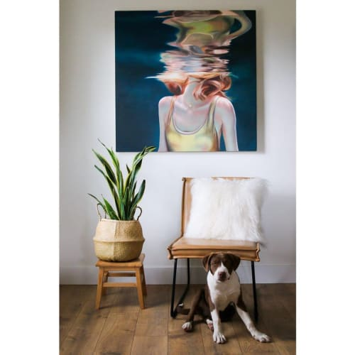 Paintings by Lucy Corwin seen at Private Residence, Salt Lake City - Lioness: Sister V
