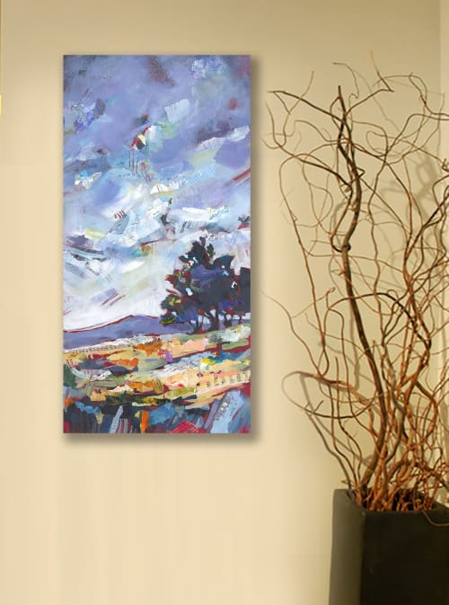 Paintings by Shelli Walters Studio seen at Private Residence, Vero Beach - Blue Juniper Painting