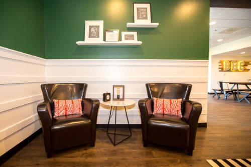 Interior Design by Thiesen Interiors at Browns Bridge Church, Cumming - BBC Green Room