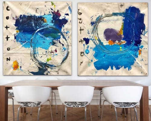Paintings by Andrew Cotton Art 100% COTTON seen at MASS District, Fort Lauderdale - Abstract Paintings