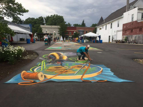 Street Murals by Rogers Create seen at Perry, Perry - Street art festival
