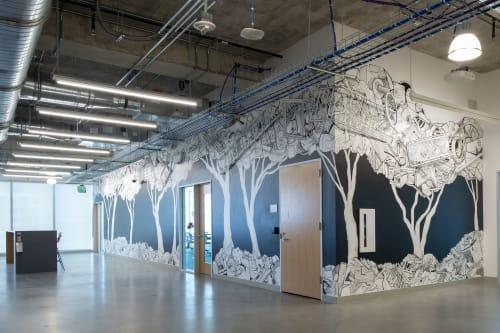 Murals by Hollis Hammonds seen at Facebook, Austin - Future Forest