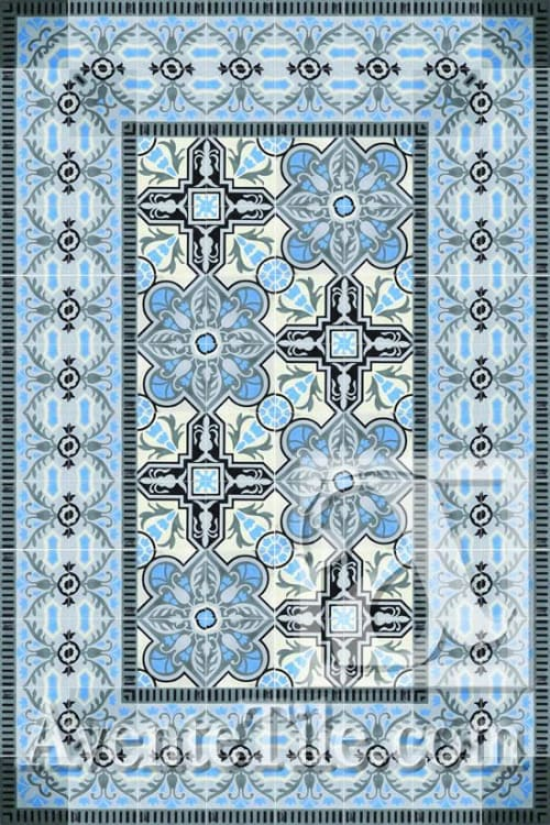 Tiles by Avente Tile seen at Private Residence, North Reading - Cuban Cement Tile