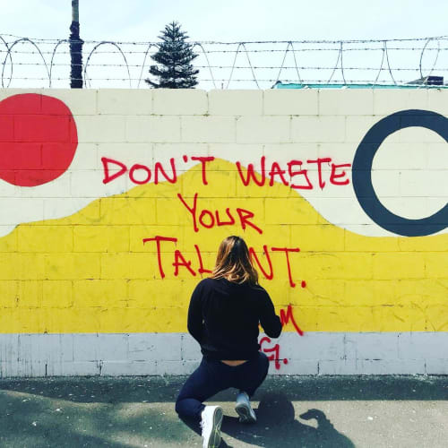 Murals by Adieny Nunez seen at Private Residence, Los Angeles - Don't Waste Your Talent