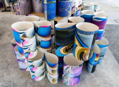 Public Art by Elizabeth Riley Projects at Paper Dragon Books, Brooklyn - Paper Dragons Projects