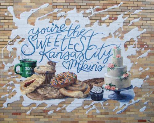 Murals by Colin Kettler seen at McLain's Bakery, Kansas City - McLain's Bakery mural