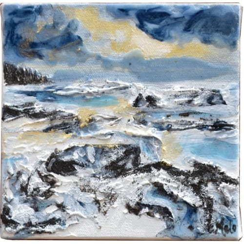 Paintings by Celina Melo seen at Private Residence, Mississauga - Frozen Shore I & II