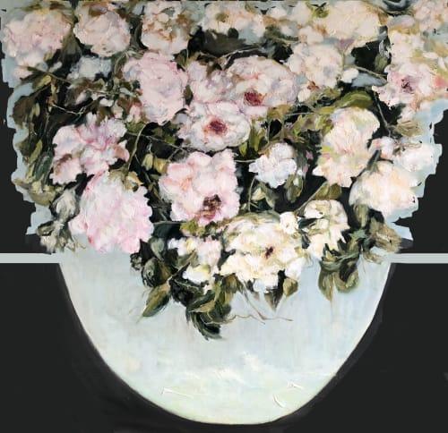 Paintings by Lucie Leduc seen at Montreal, Montreal - Le goût de l'eau _ oil painting