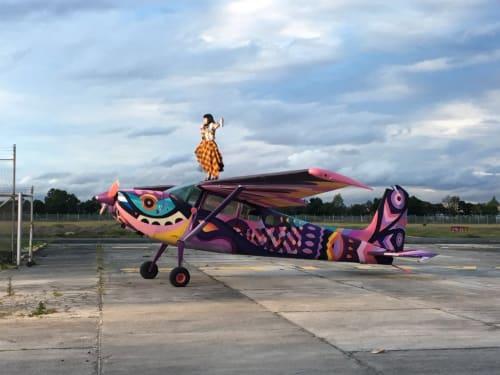 Public Sculptures by LEDANIA seen at Bogota, Bogotá - Aircraft