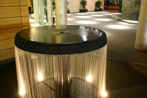 Public Sculptures by Yoshikawa seen at North Hollywood, Los Angeles - Umbrella Waterfall